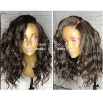 Bob Wig Lace Front Pre Plucked Hairline Body Wave Remy Hair Wigs With Baby Hair