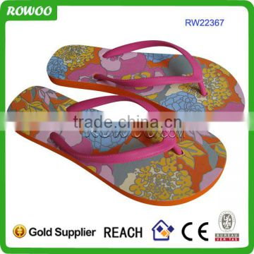 High Quality Print Wholesale Custom Beach Flip Flop for Cosmetic Promotion