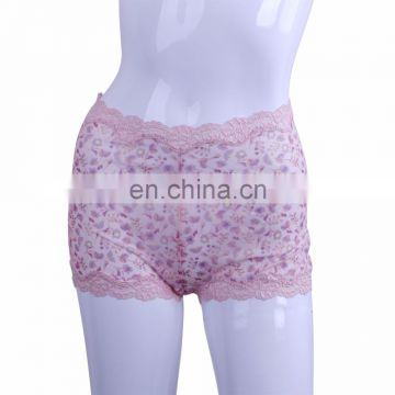 Hot Design Fashion Young Girl Print and Lace Womens Boy Briefs