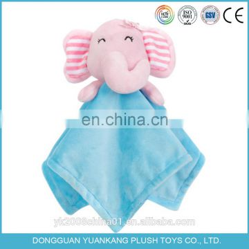 YK 30cm plush animal comforter towel toy for baby