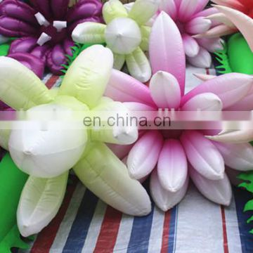 2017 12m long inflatable flower chain for fasion show