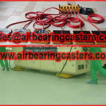 Air caster with after sale service
