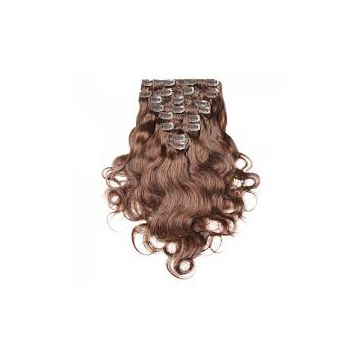 Tangle free 16 18 20 Inch Brazilian Curly Human Hair Brown Natural Wave Kinky Straight