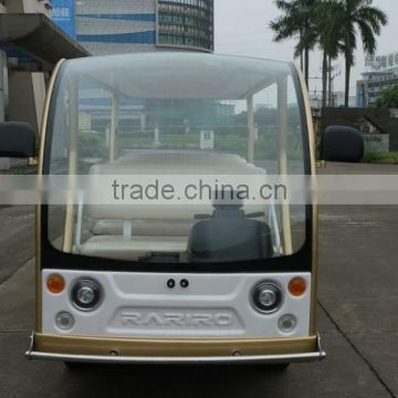 Beautiful elegant design 14 seater shuttle bus electric sightseeing car