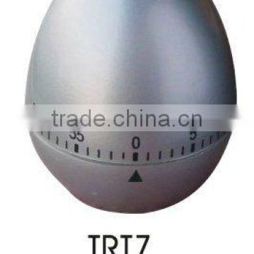 Silver painting egg shape kitchen timer/countdown mechanical timer