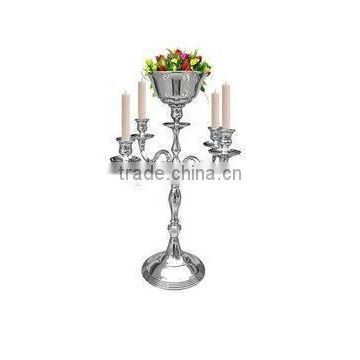 silver plated flower bowl candelabra