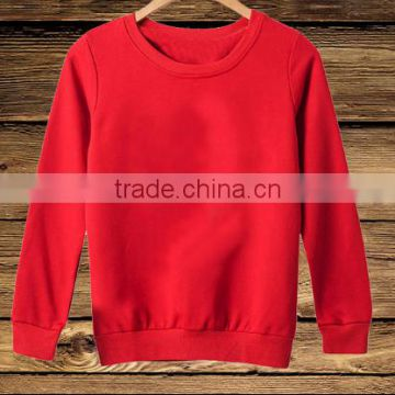 Wholesale blank long sleeve pullover round neck pure color sweatshirt without hood