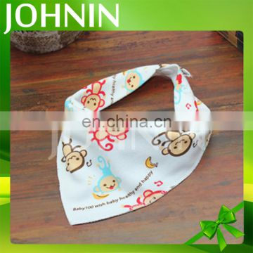 hot selling wholesale customized triangle bandana soft cotton baby bibs