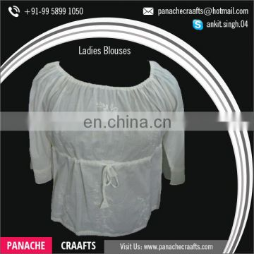 Wholesale Price Fancy Style Ladies Fashion Blouses
