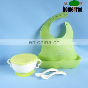 plastic dinner set Baby food plate for kids with knife and fork