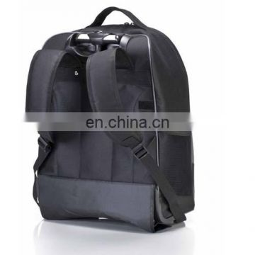 Factory direct selling polyster material trolley bag with 2 wheels