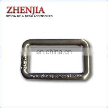 metal buckle ring with engraved logo