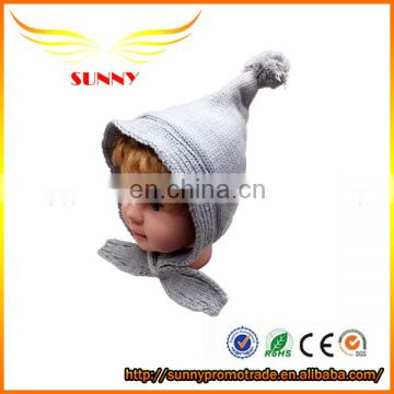 Wholesale popular Acrylic Beanie Hats with pompoms knitted hat