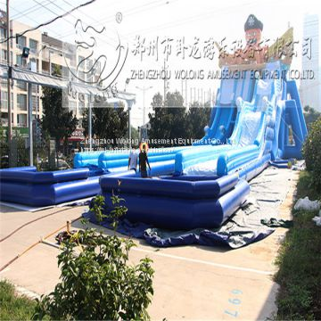 Hot sale swimming pool slide,giant inflatable pool slide for adult