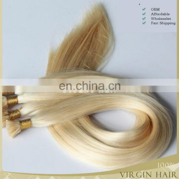 Grade 7A cheap 100% Brazilian human hair Keratin bonded hair extension I-tip hair extension