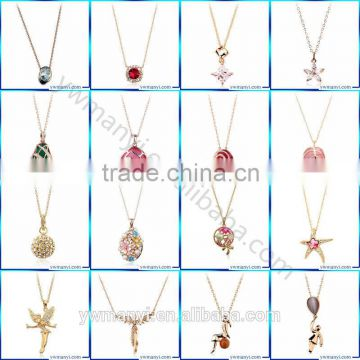 2016 Factory Price Newest Korea Style Handmade Cheap sweet girl opal 14k gold necklace wholesale Fashion Jewelry N0100