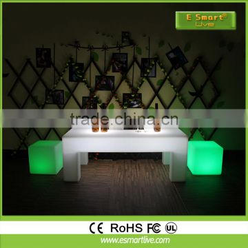 PE Material Rotational Moulding Plastic led light cube