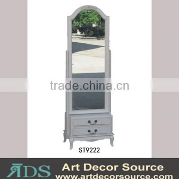 french style full length dressing mirror with 2 drawers