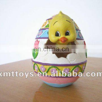 cute little duckling come out an egg figure