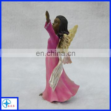 Wholesale resin black angel figurines angel statue
