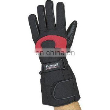 HMB-2024A LEATHER MOTORCYCLE GLOVES KEVLAR CORDURA FABRIC