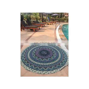 Indian Mandala Roundie Hippie Boho 72' Round Table Cover Yoga Mat Art Wholesale Lot Round Mandala Wall Hanging Beach Towel Throw