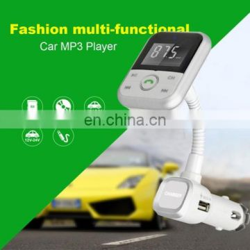 Drop Shipping Bluetooth Car MP3 player,5V 2.1A USB Car Charger,Univeral FM Transmitter with Remote Controller for Mobile Phone