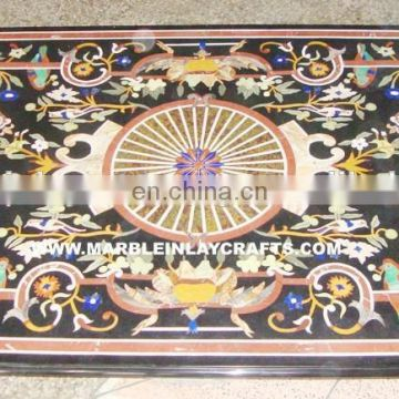 Marble Inlay Dining Table Tops, Marble Inlay Pietar Dura Table Tops