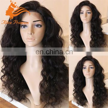 Virgin Brazilian Glueless Full Lace Wigs Loose Wave Full Lace Human Hair Wigs 150% Density Side Part Wavy Lace Front Wig