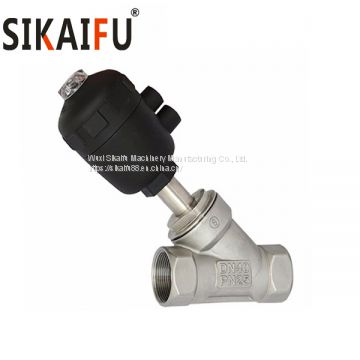 SS304 thread 2000 type Pneumatic Angle Seat Valve for Steam