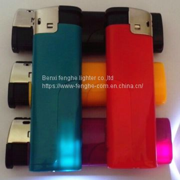 FH-806 electronic lighter with LED good quality