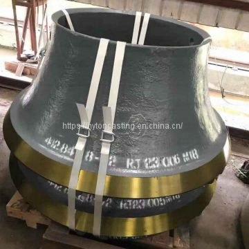 wear parts concave head liner of  high manganese steel suit gp500 metso nordberg cone crusher