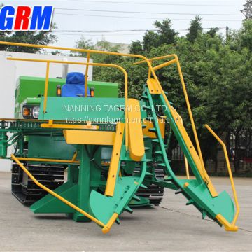 New design technical improved self-propelled sugarcane harvester / sugarcane cutting machine with top cutter