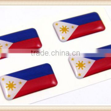 Philippine MINI domed decals flag 4 emblems Car bike boat. stickers