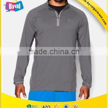 592ecde8d87 OEM Wholesale Bulk New Men s Moisture Wicking 100% Polyester Dry Fit Long  Sleeve Sports T Shirts XS-4XL of Half Zip Shirts from China Suppliers -  144808104