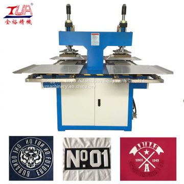 Easy to operate cloth logo press equipment and low price clothes embossing heating press machine