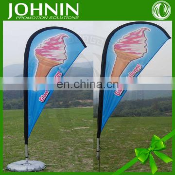 OEM promotion printed feather advertising flag