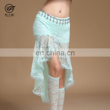 Q-6067 Beautiful sexy lace flower women belly dance skirt