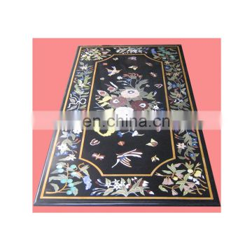 Rectangular Marble Inlay Dining Table Top, Marble Inlay Table Top