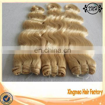 Full Cuticle Blonde Human Hair Extension Body Wave 100g/piece 6A Top Quality Cheap Brazilian Remy Hair