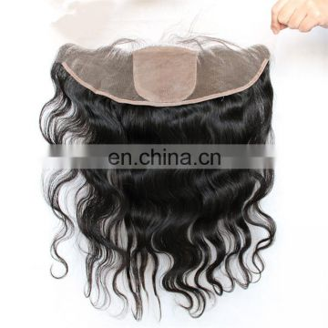Brazilian body wave silk base frontal Virgin hair free part lace frontal with baby hair 13x4 lace frontal closure bleached knots