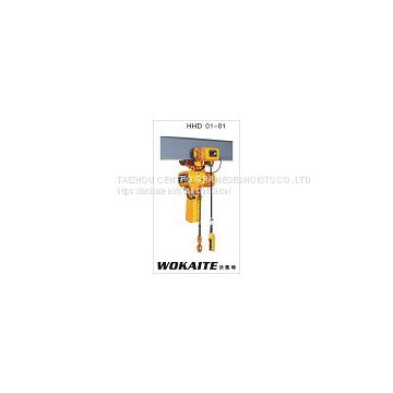 WOKAITE 1 ton electric chain hoist with single chain