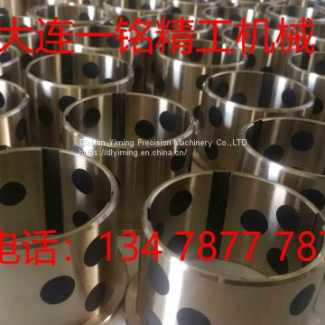 High-strength brass inlaid graphite, JDB graphite copper bushing, self-lubrication copper bush, oilless bearing, oil-free copper bushing.
