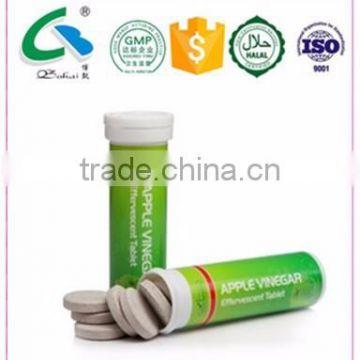 White Label Slimming Pills Green Apple Vinegar Effervescent Tablet