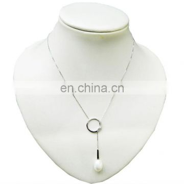Formal hand-made pearl necklace pendant--925 silver chains