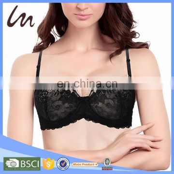 Wholesale Fashion Beautiful Girls Perfect Sexy Large Size Lace Underwear Lingerie Bra
