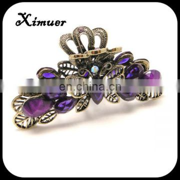 Hot selling resin stone women hair claw