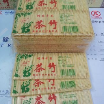 China Bamboo Toothpick Factory Toothpick 1.5-1.6X65mm 400PCS/Bag 10bags/Box 100boxes/Carton