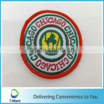 2013 New design Embroidery Badge/Sticker/patch design woven label for clothings, bags, and garments