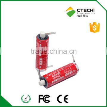 maxell er6c 3.6v lithium battery 1800mAh with solder tabs